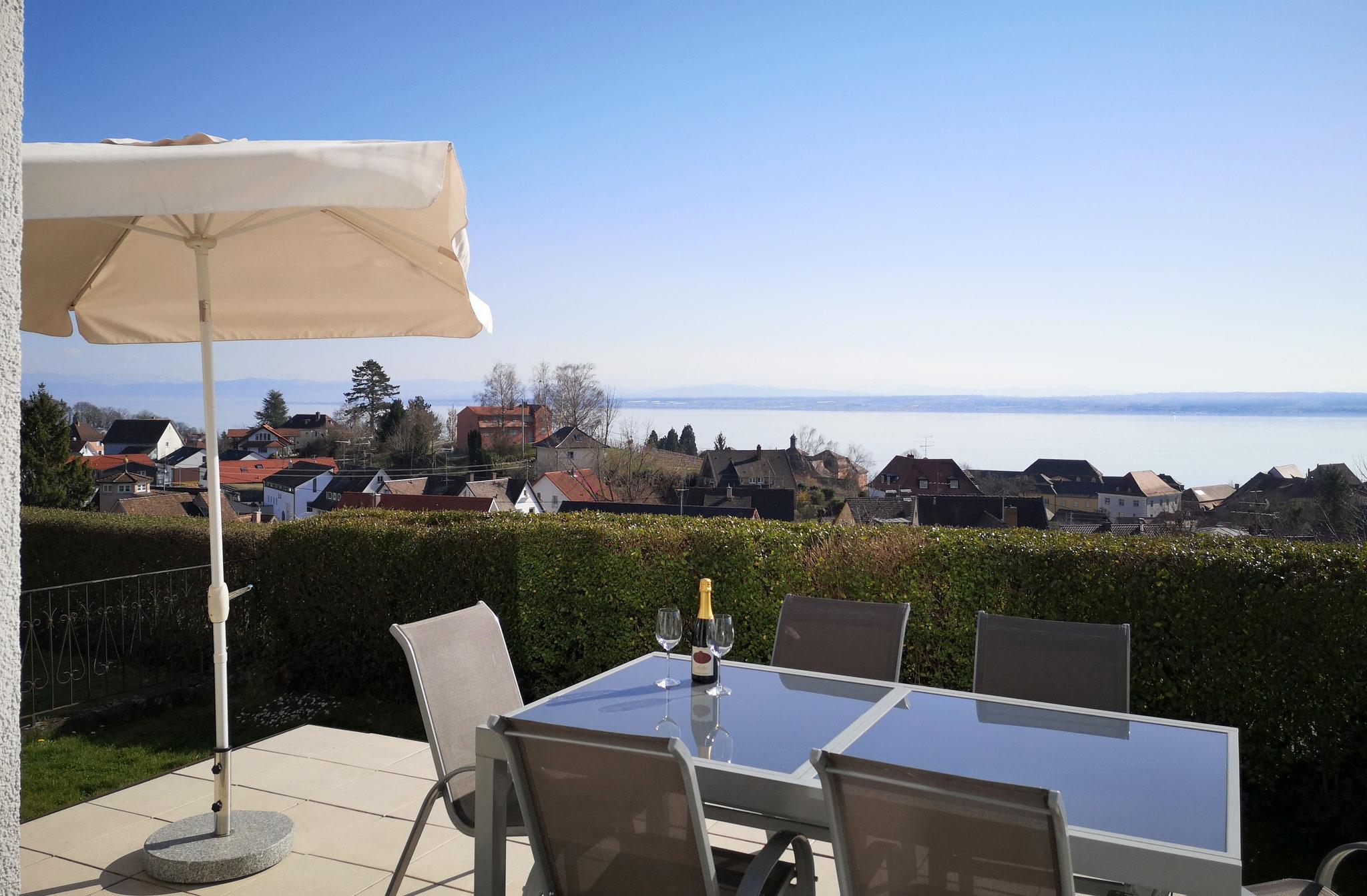 Terrasse mit tollem Ausblick