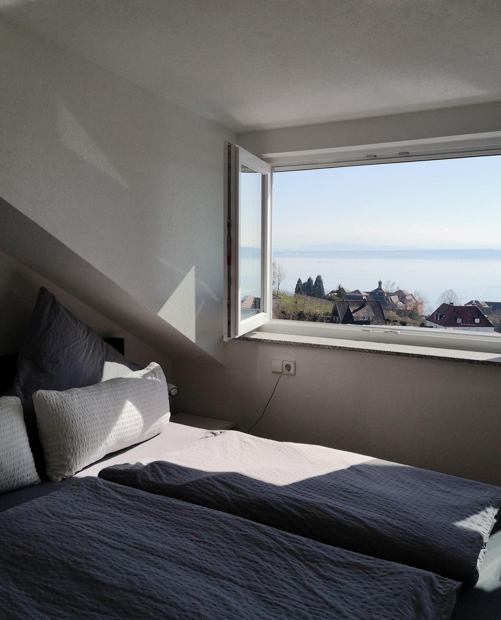 Schlafplatz mit Seeblick