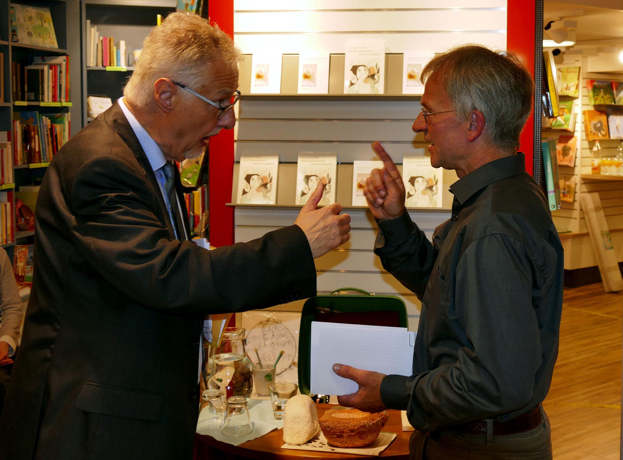 Prof. Dr. Mario Andreotti und Peter Rudolf