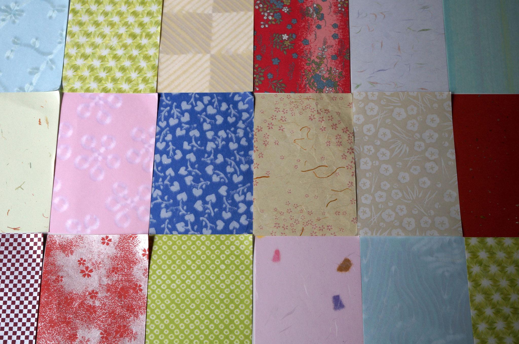 多種多彩な和紙を使って貼り箱を作製することができます