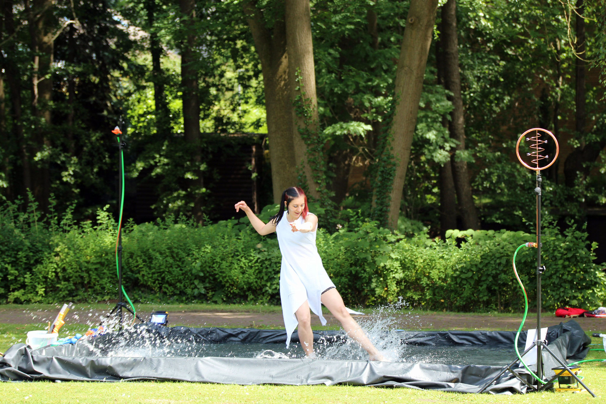 Effekt Show mit Tanz an der Alster |Foto: Verwünscht Photografie