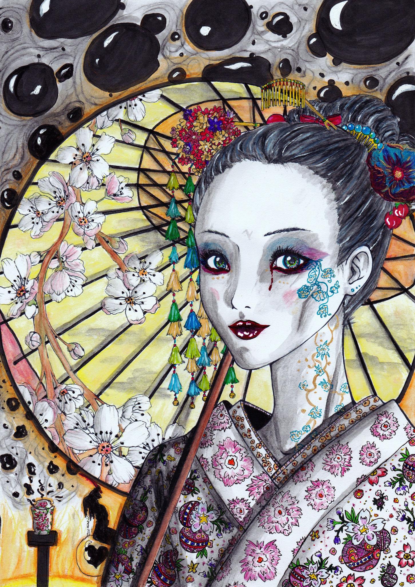 Colourierte Outlines A4 2010 (Nur die Colouration ist von mir) Handelte sich um einen Wettbewerb bei Animexx.