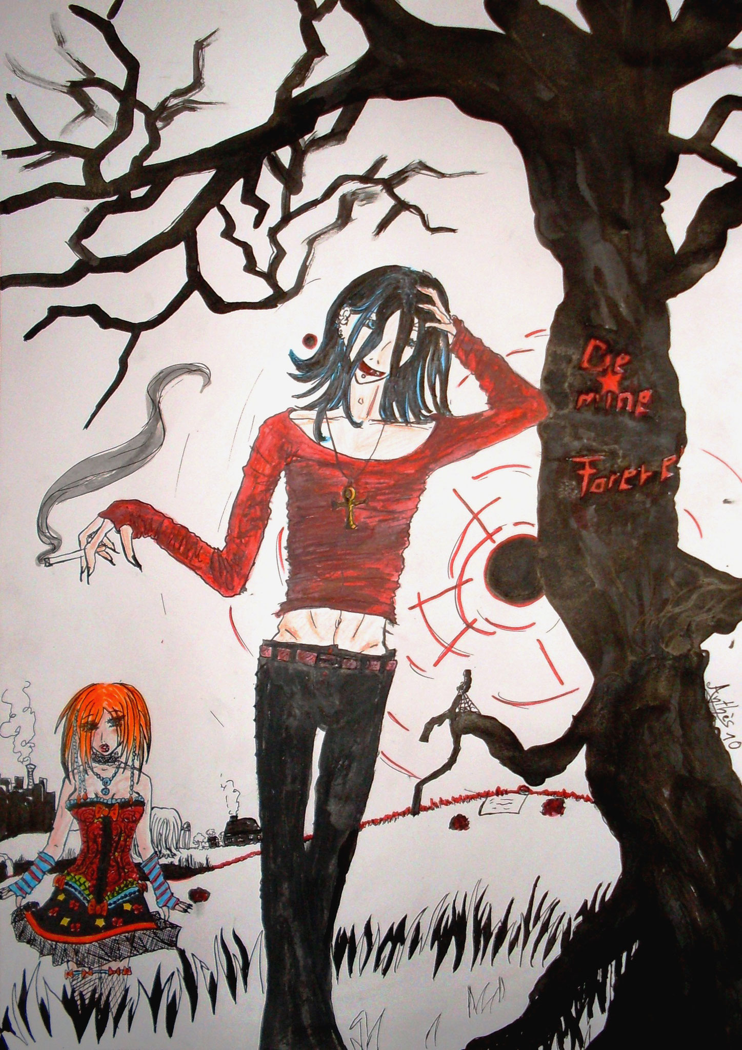 Für Einen Wettbewerb von Funny (Animexx.de)  fertig A3 2010