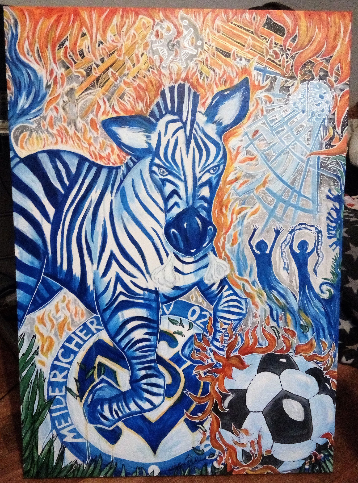 Das leidenschaftliche Zebra 100x70cm Baumwollleinwand 300g November 2017 Auftragsarbeit für ein Geburtstagsgeschenk