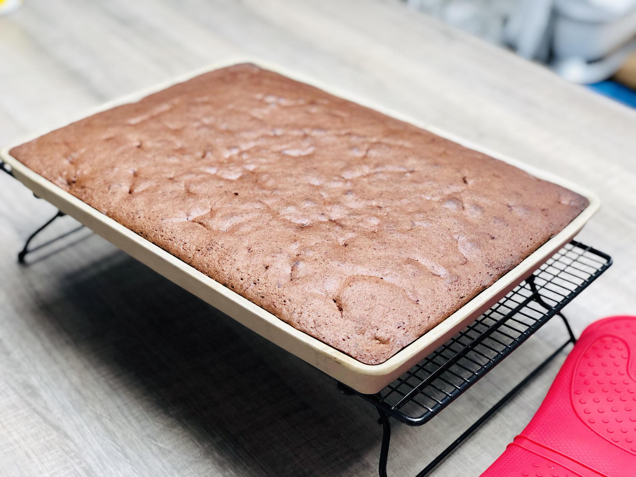 Nach ca. 30 Minuten ist der Kuchen duftend auf deinem Tisch....