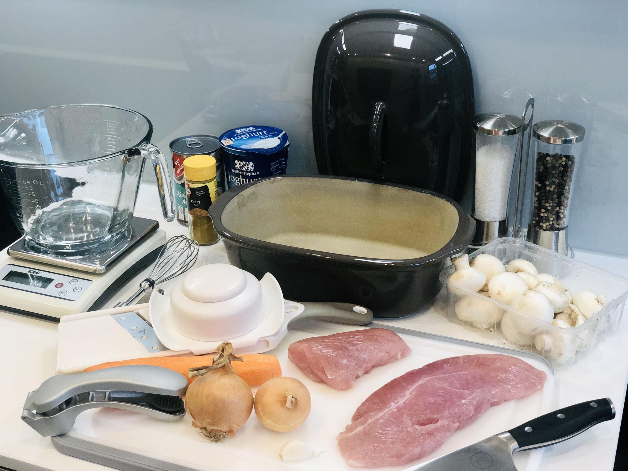 Hier siehst du meine Lebensmittel und den Ofenmeister. Heute gibt es asiatische Küche ♥