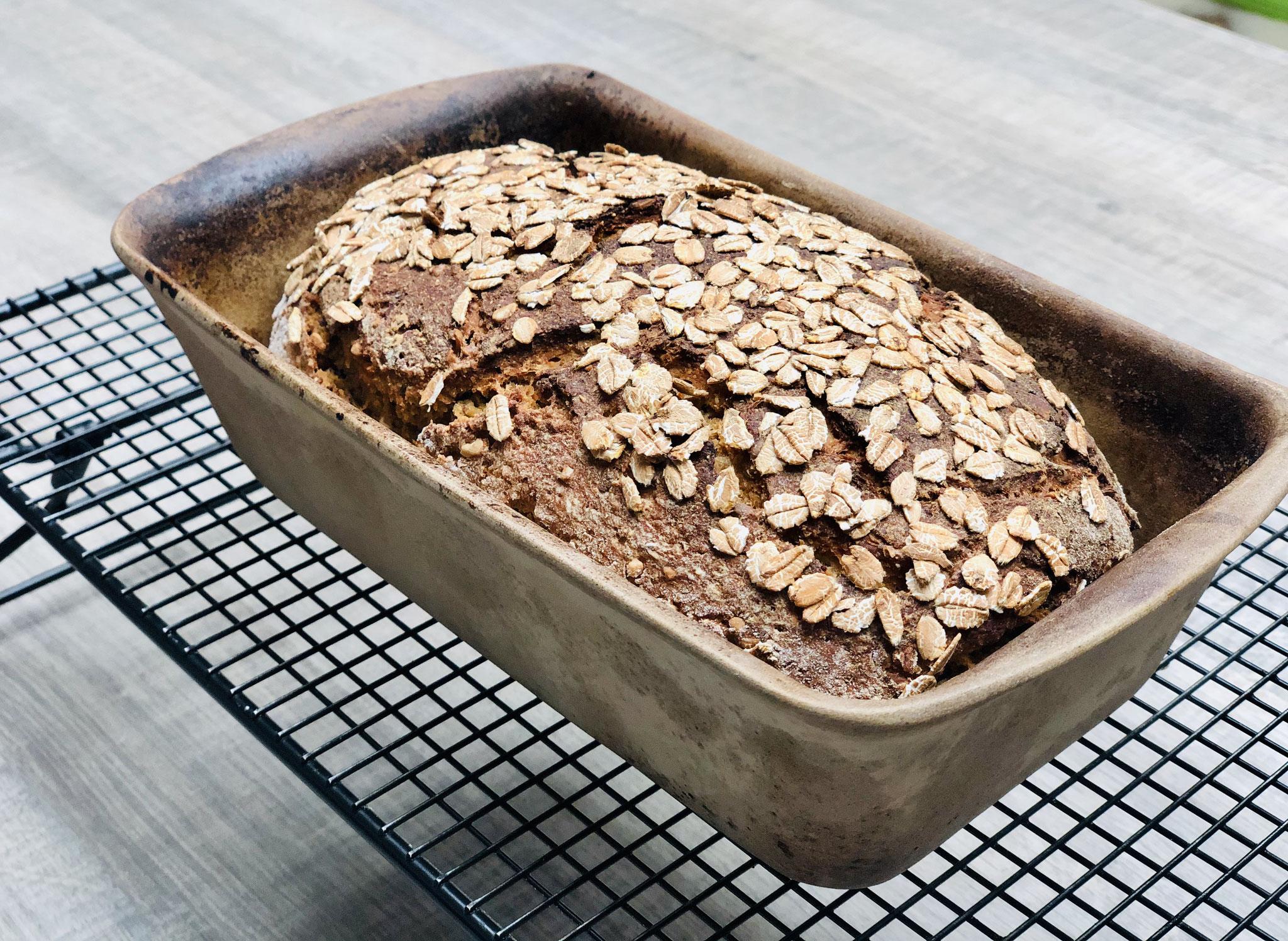 Schau wie knusprig dieses Brot aus der Stoneware von Pampered Chef® gebacken wird....