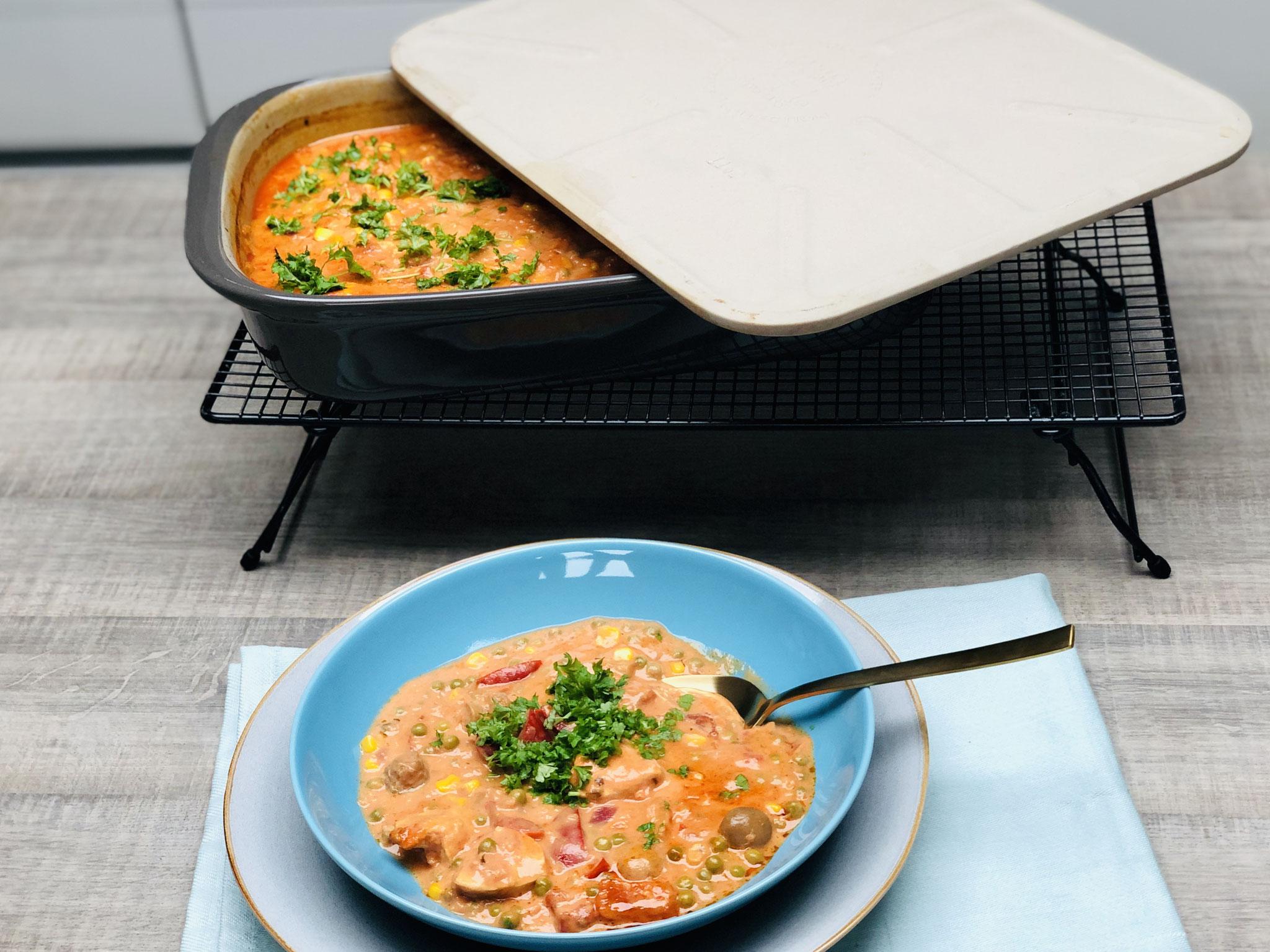 Die fruchtig leckerer Gulaschsuppe aus dem Grundset von Pampered Chef®  wird auch dich kulinarisch umhausen - Suchtgefahr! :)
