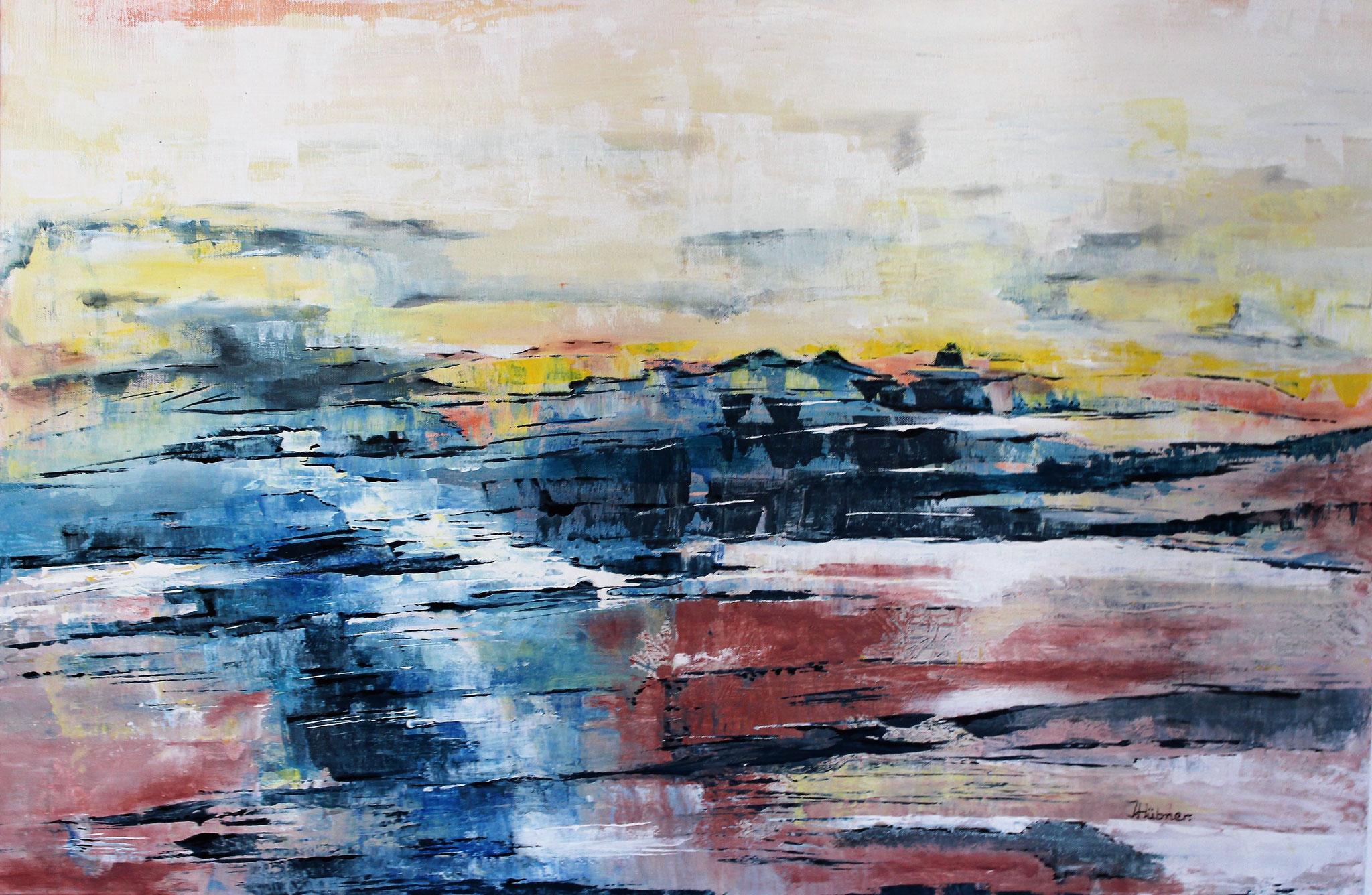 Pastelle Landschaft (100 x 80cm)