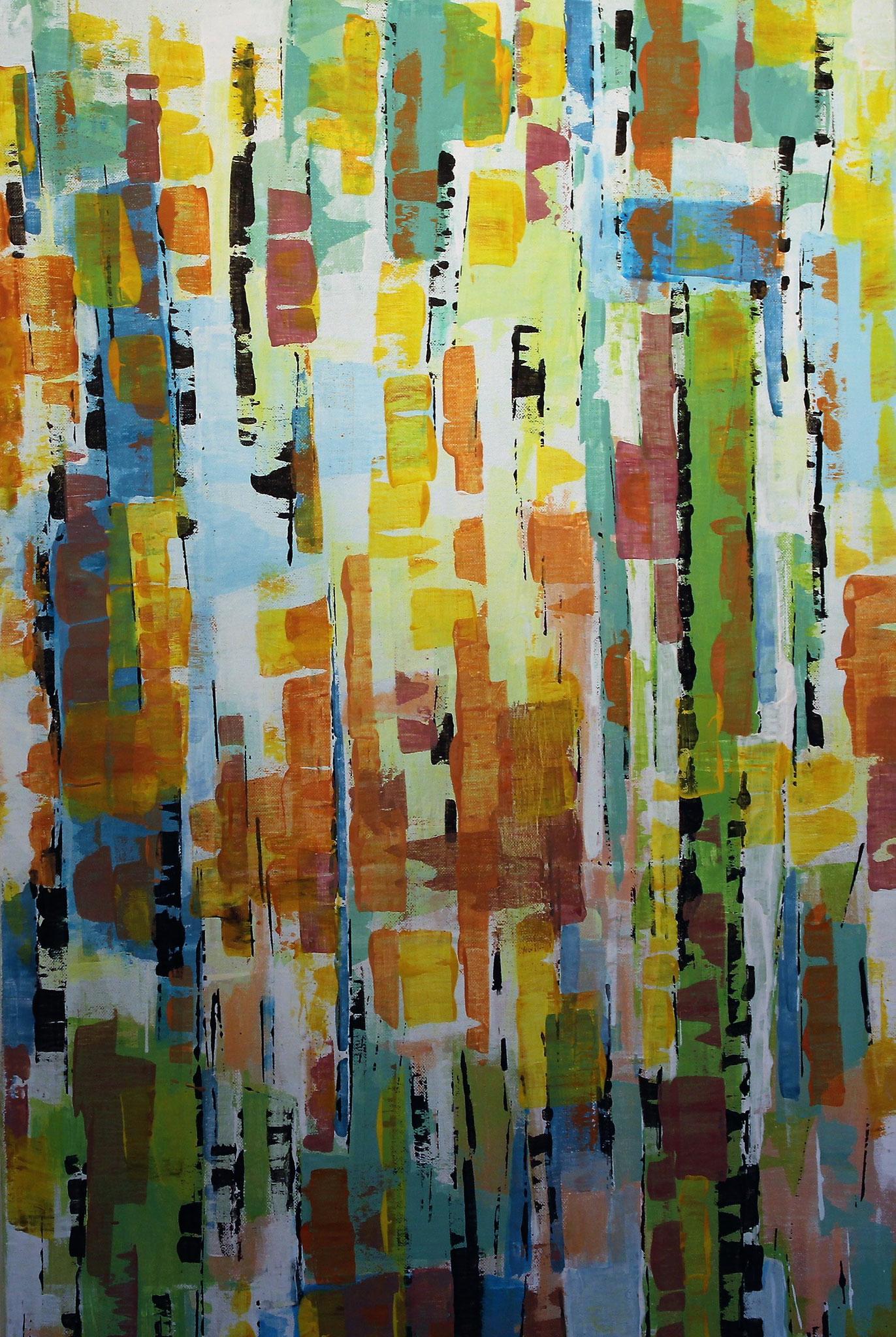 Farbkomposition in Gelb (100 x 50cm)