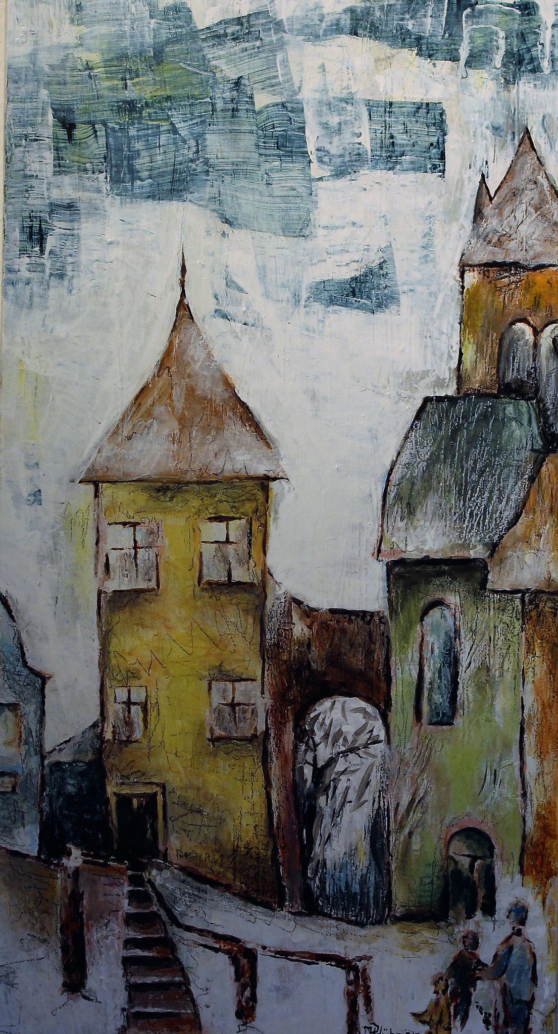 Nostalgiestadt-Erinnerung (80 x 40cm)