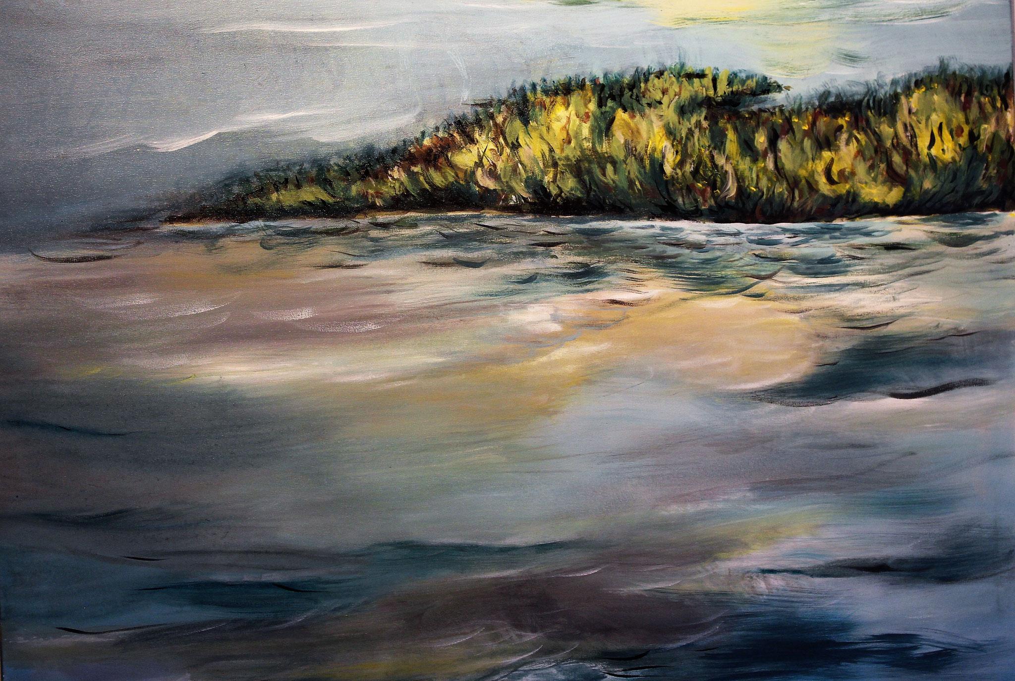 Seenlandschaft (100 x 80cm)