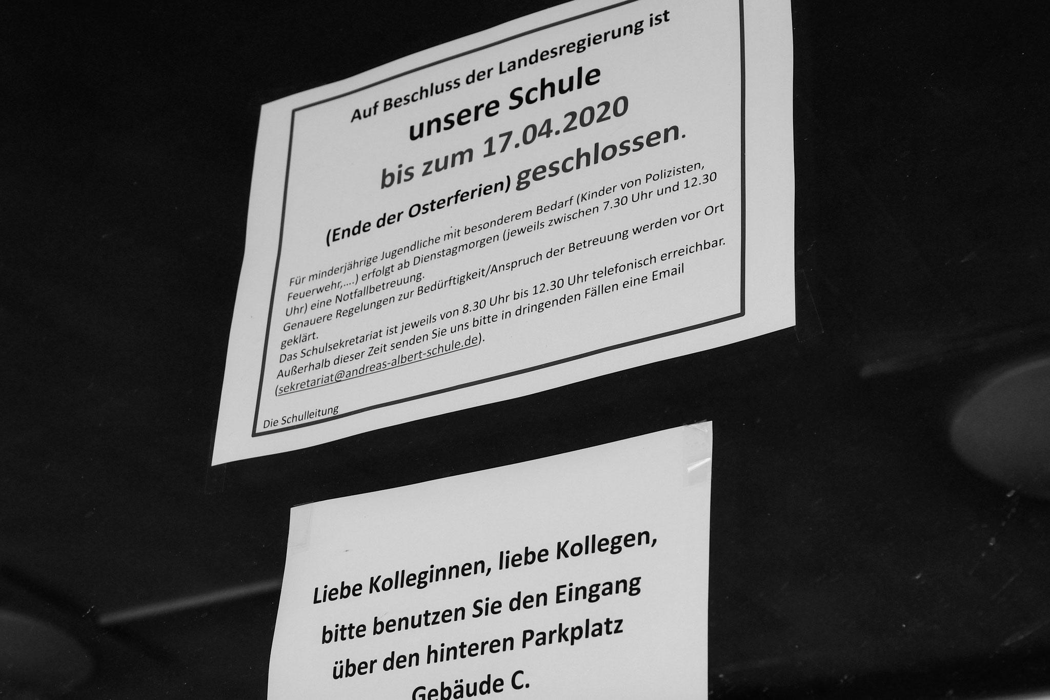 16.3.2020 | FT | Andreas-Albert-Schule Berufsbildende Schule | geschlossen
