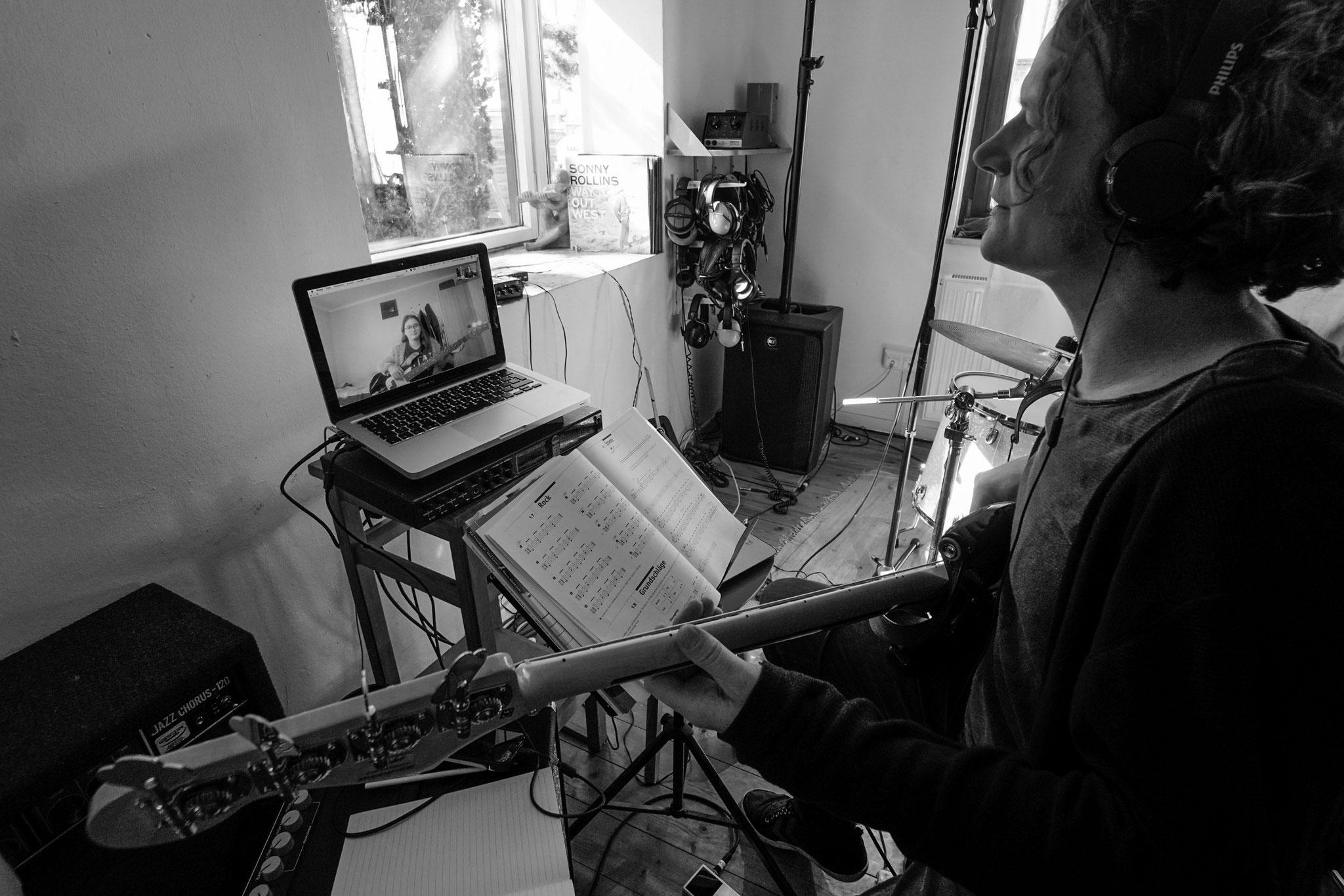23.3.2020 | FT | Musikhaus Am Strandbad | Bassunterricht via Skype
