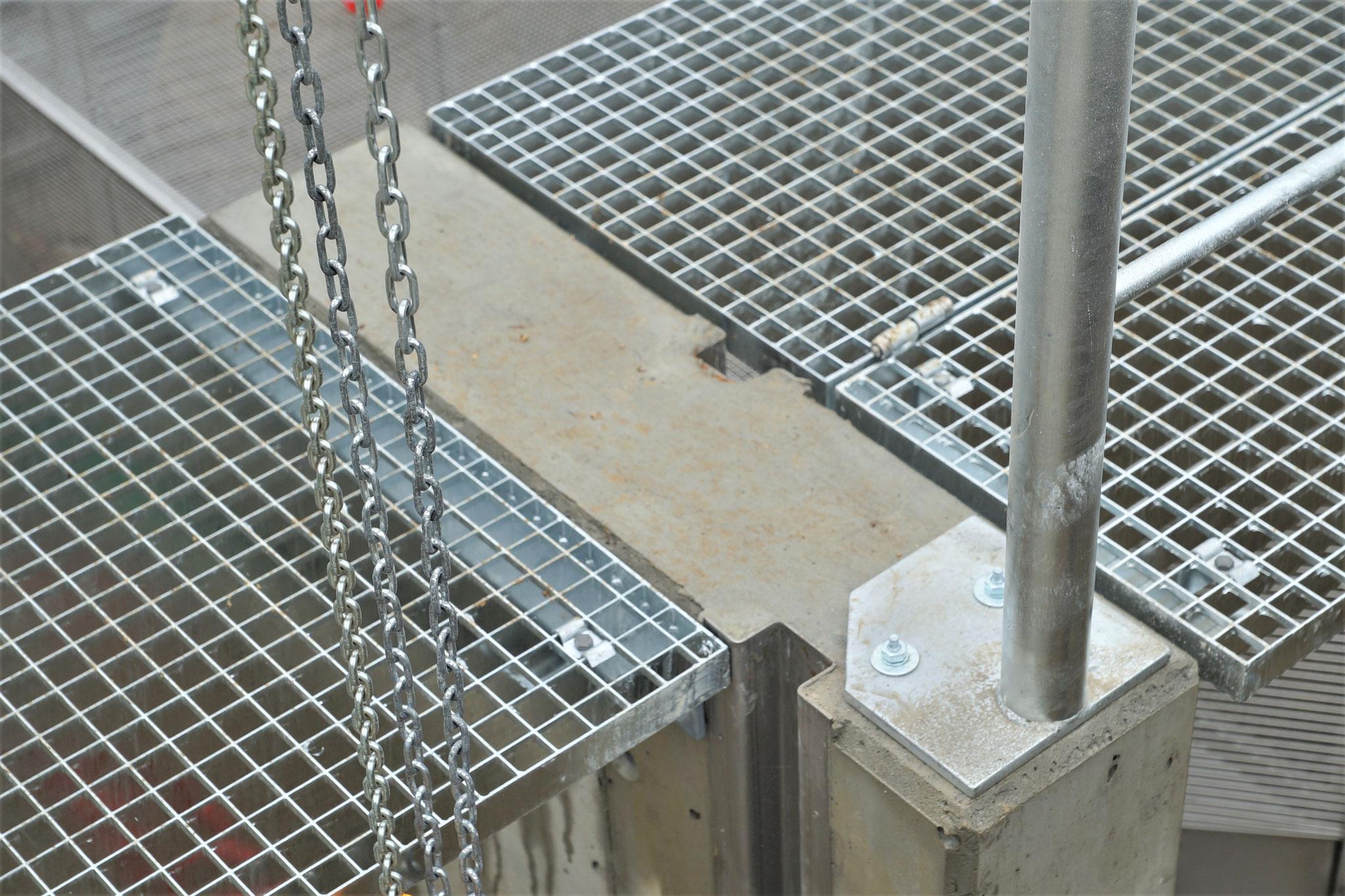 Gitterroste als sichere Arbeitsplattform