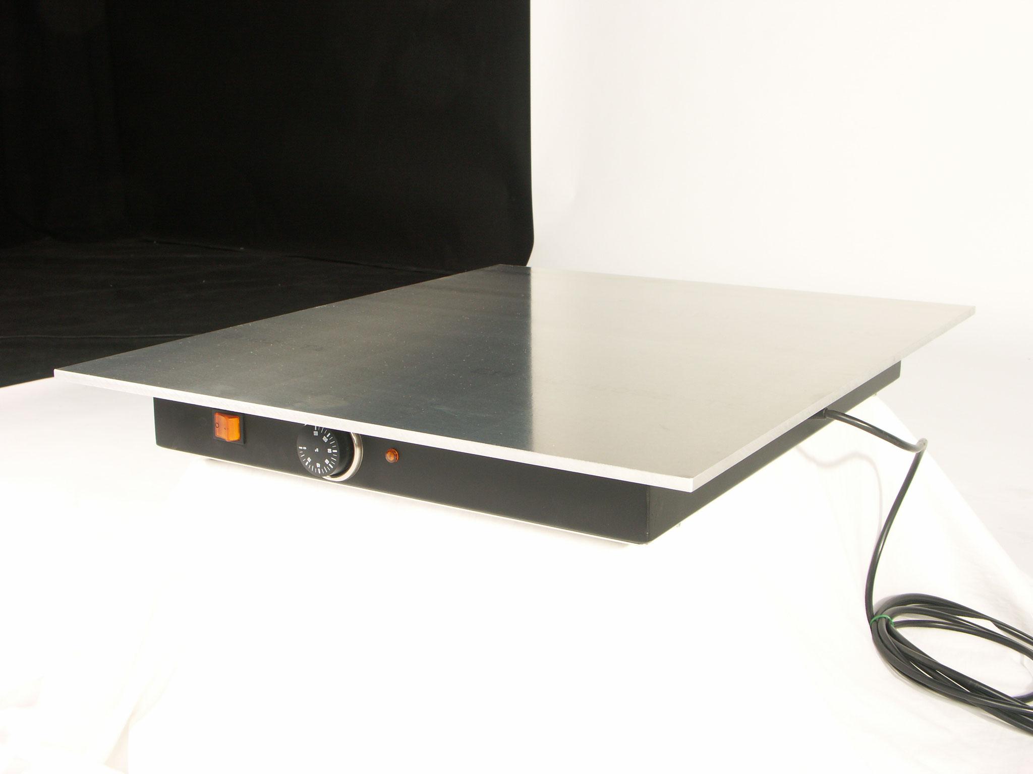 Wärmeplatte mit Thermostat zum einfärben von Kupferplatten