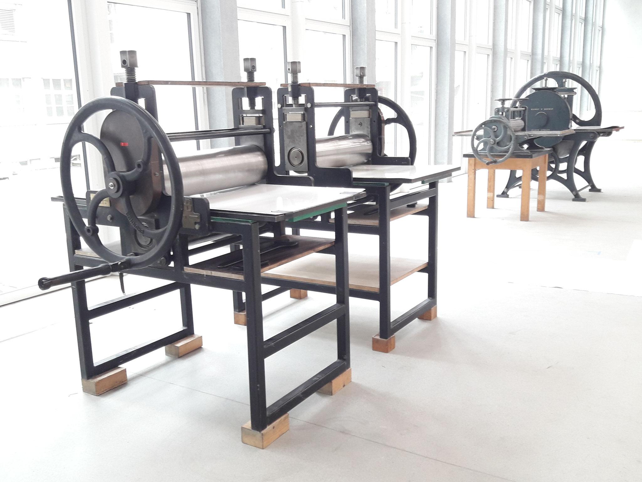 Frisch eingerichtete Druckwerkstatt