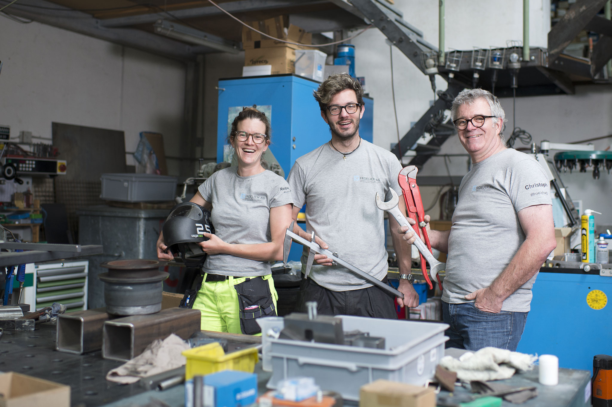 Teamfoto in unserer Werkstatt