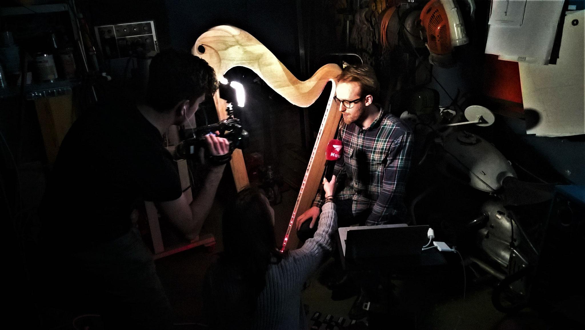 Louis während dem Interview