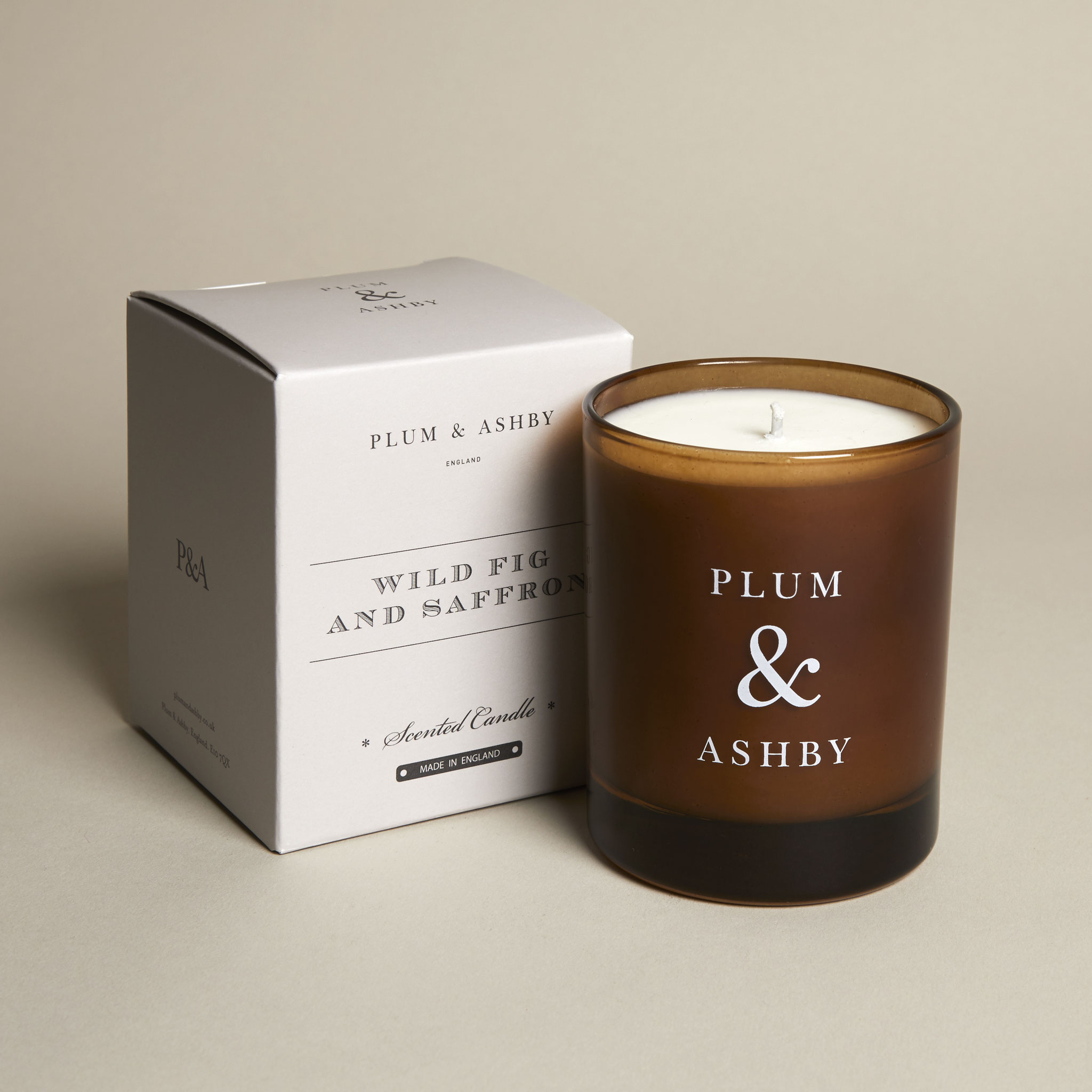 Plum & Ashby Natural Wild Fig and Saffron Candle