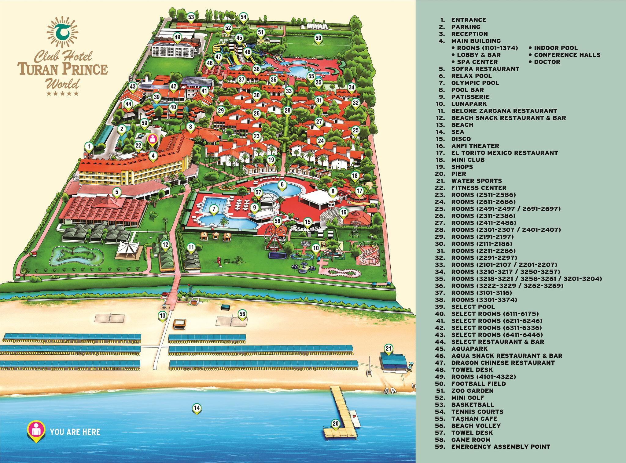 Side Hotels Lageplan
