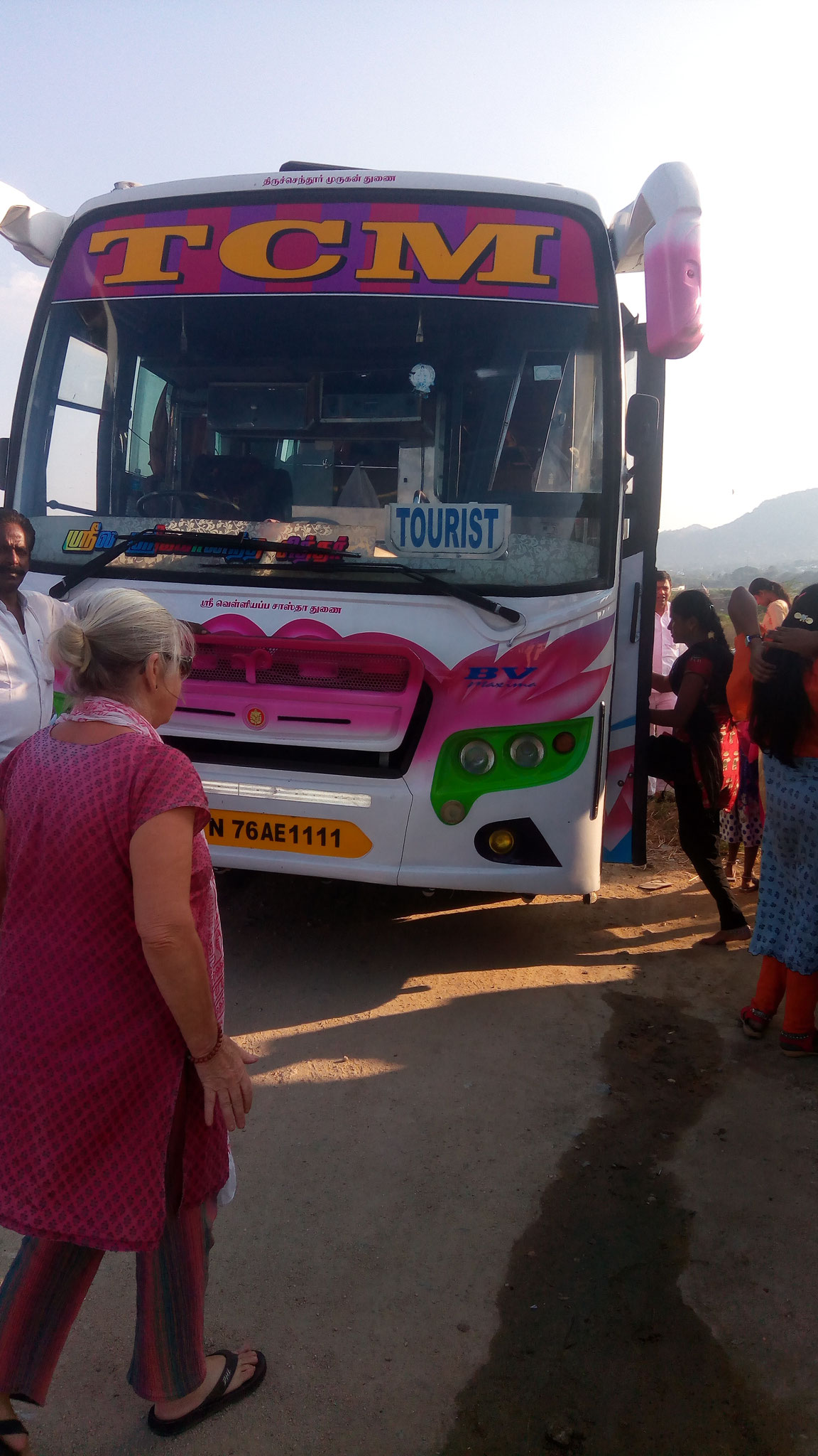 This is how we roll :) We book a bus from Tenkasi to Puttaparthi. Usually it takes 26 hours to reach Puttaparthi