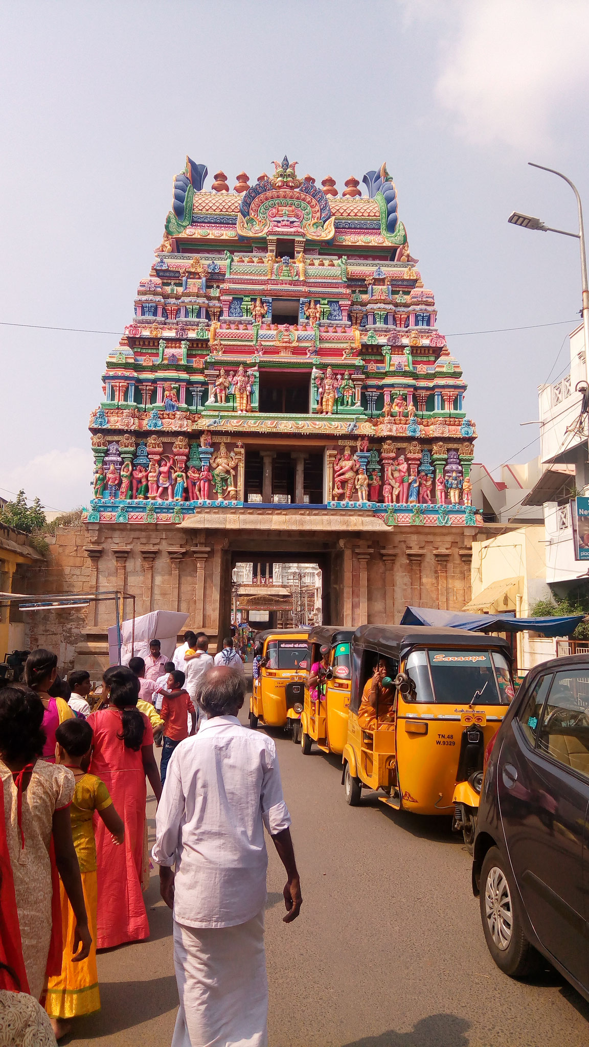 Stop-over on our way home: Trichy Temple