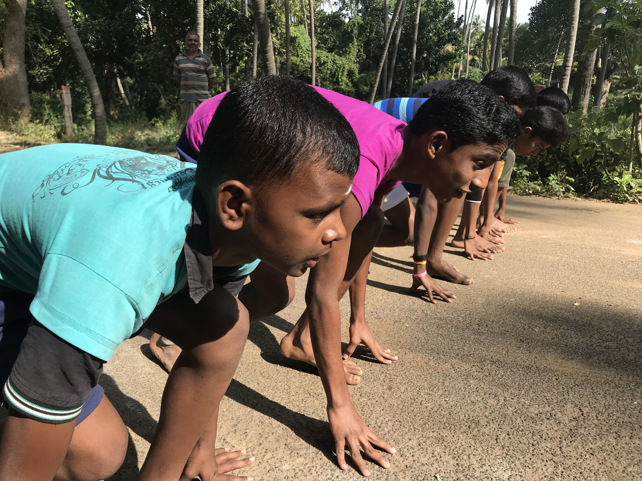 Running races for all age groups for boys and girls separately