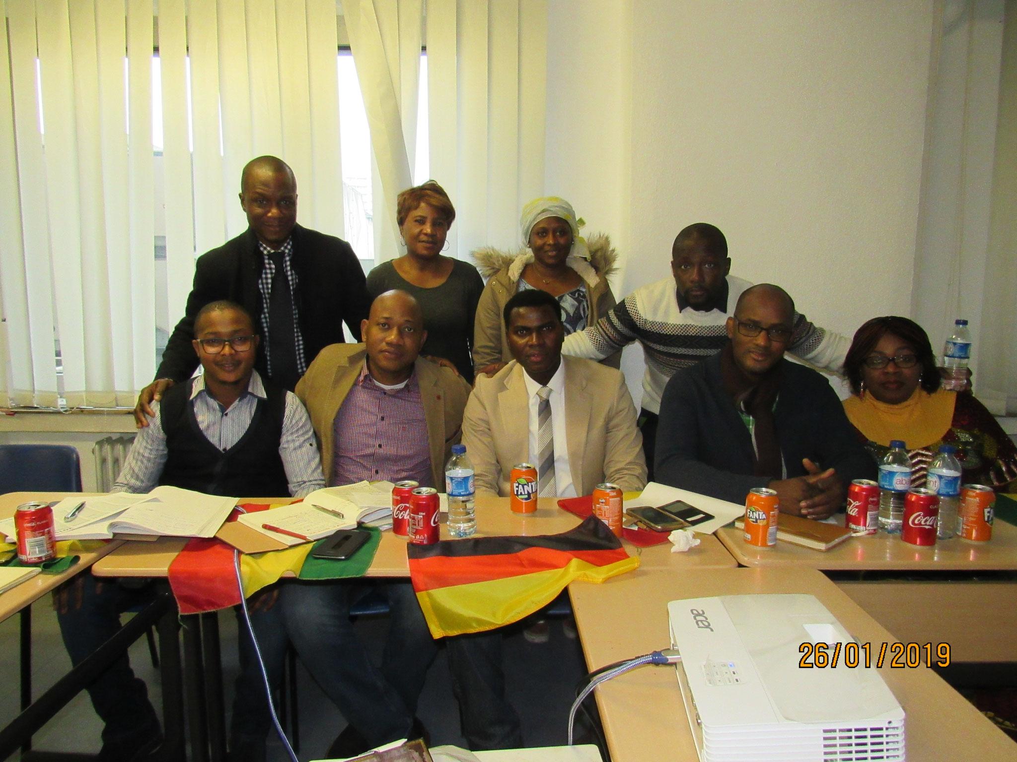 Équipe du BE & Membres de l'URGA-eV.