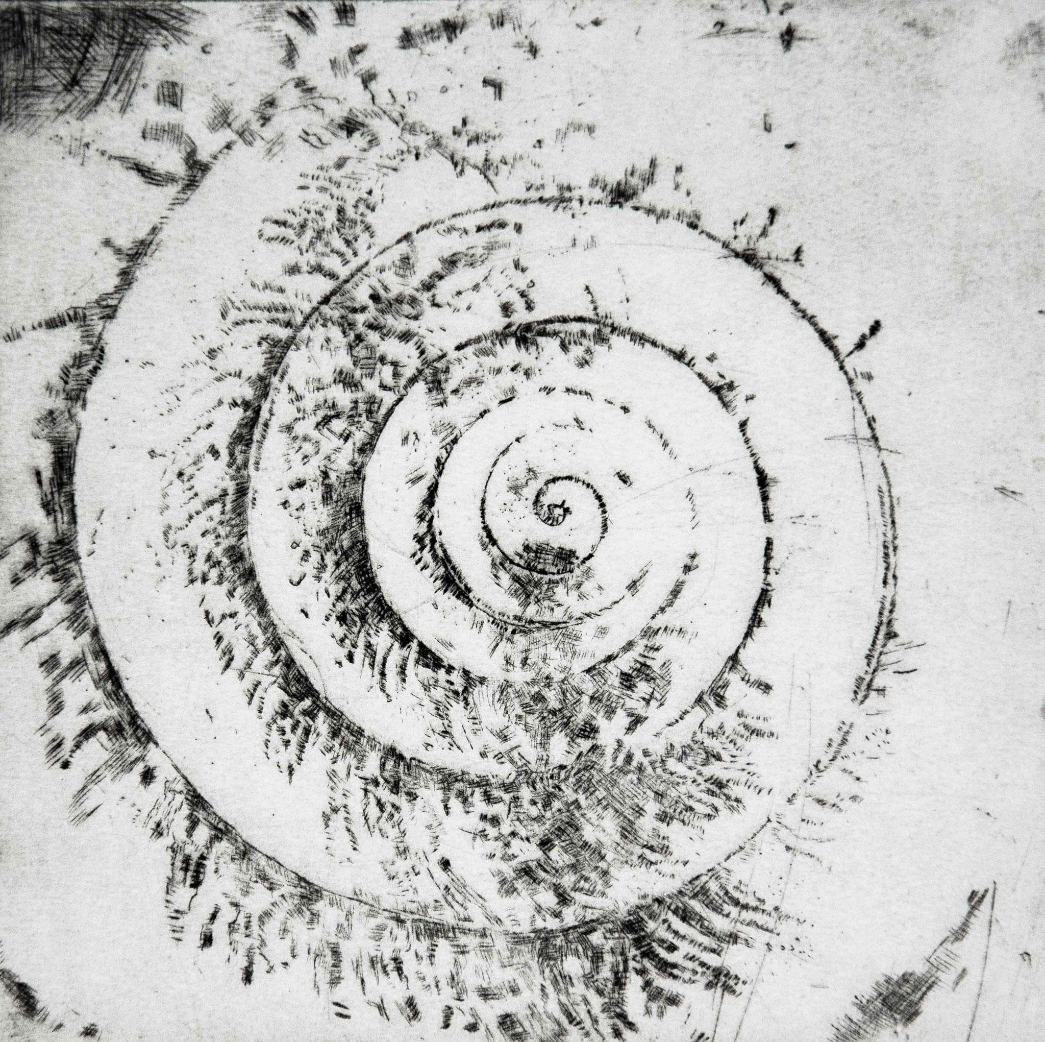 Kaltnadelradierung, 15x15 cm