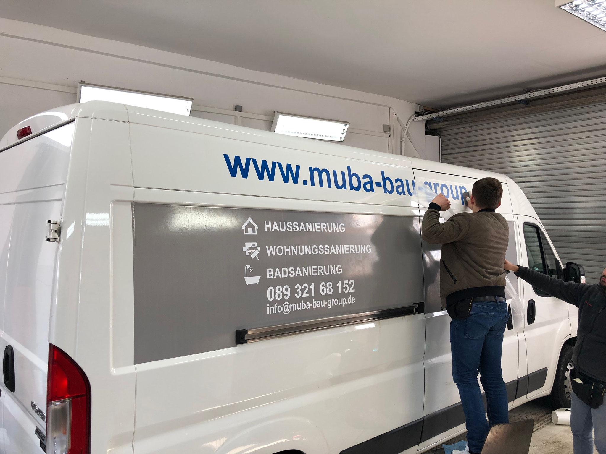 Muba Bau Gmbh Autobeschriftung in München