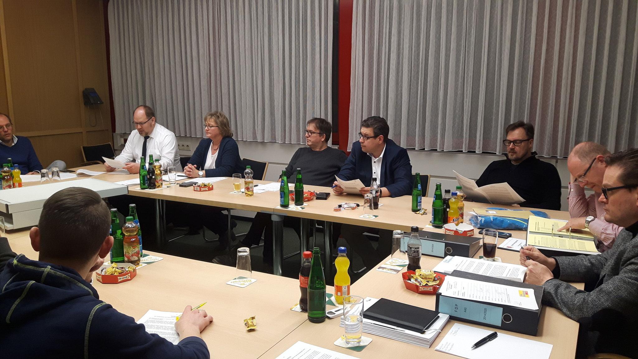 Diskussion des städtischen Finanzplanes 2018