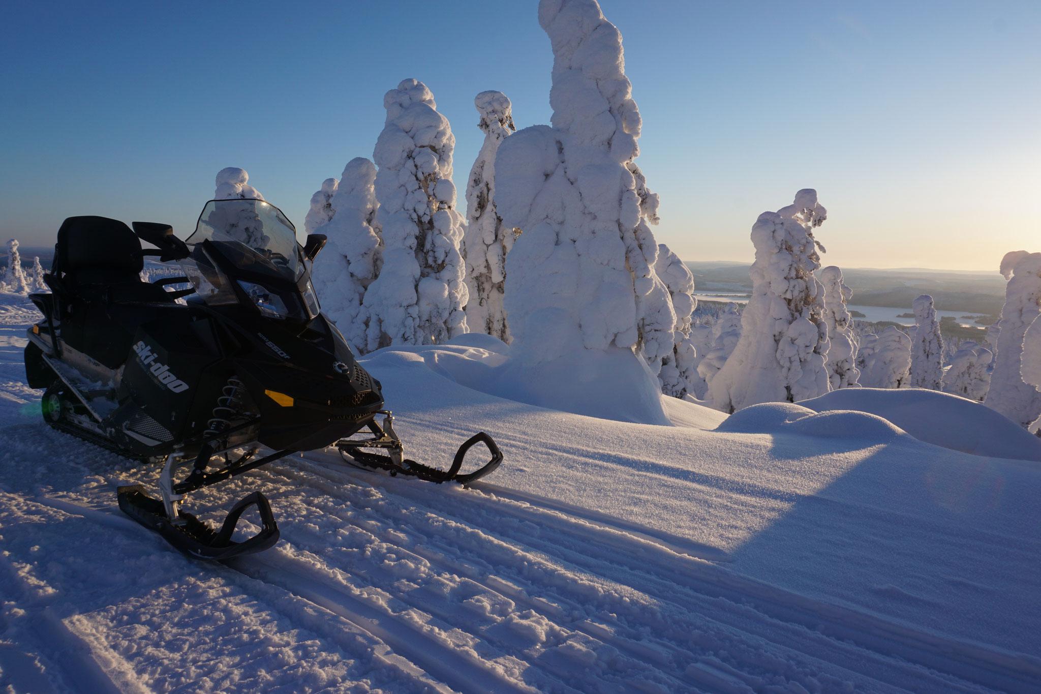 Tagesausflug mit dem Schneemobil
