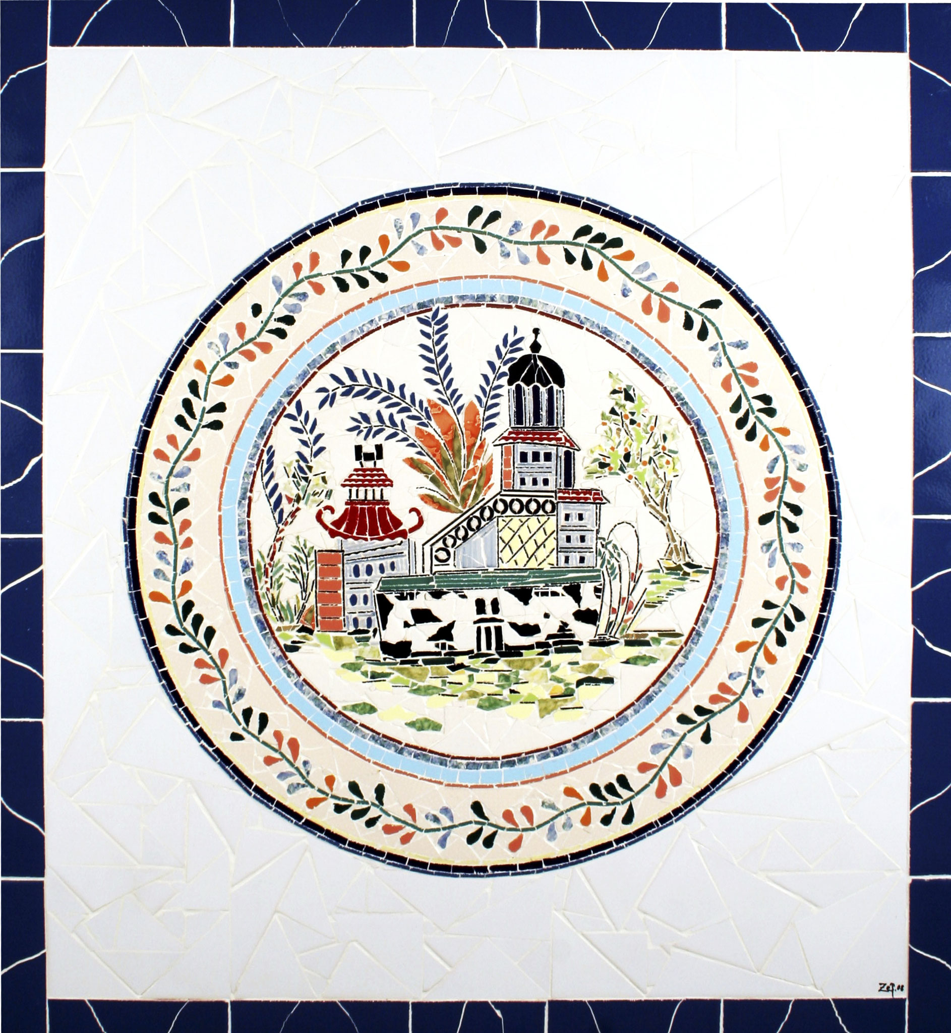 """""""Pagode Chinês"""" - 82x55 cm"""