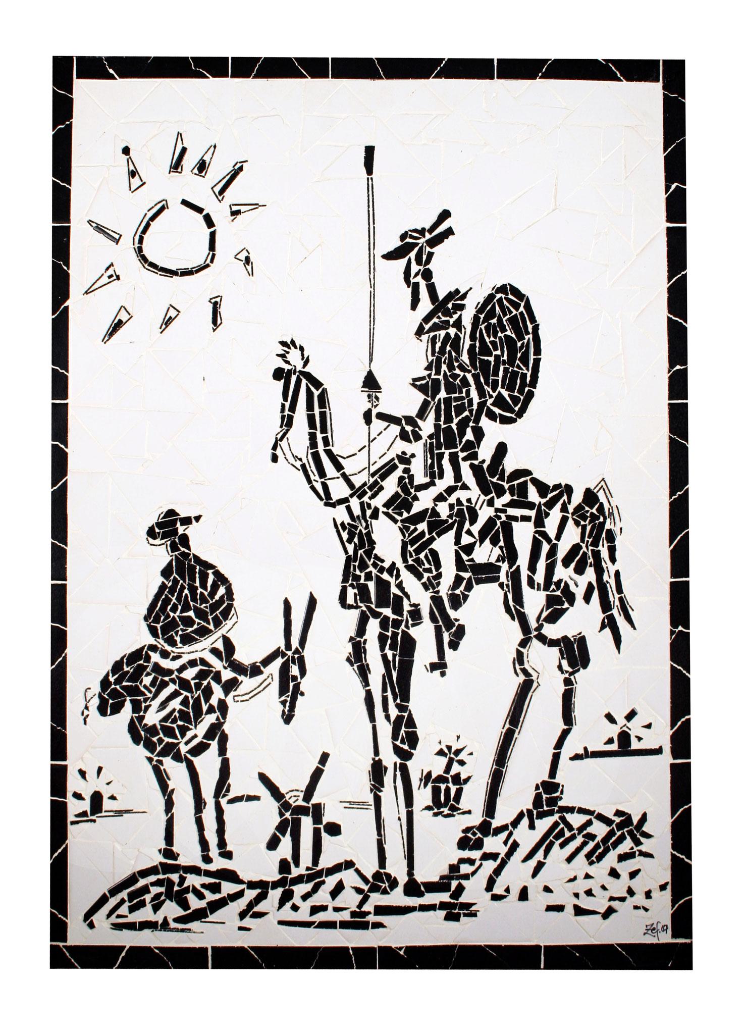 """""""Dom Quixote"""" - 120x90 cm"""