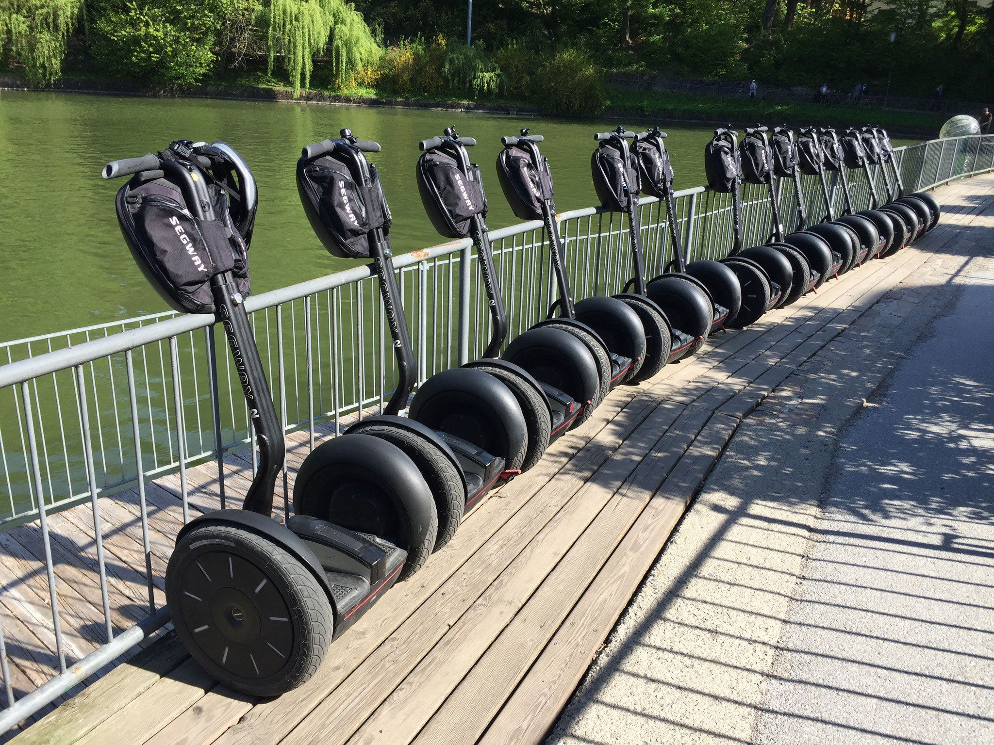Segway-Event am See