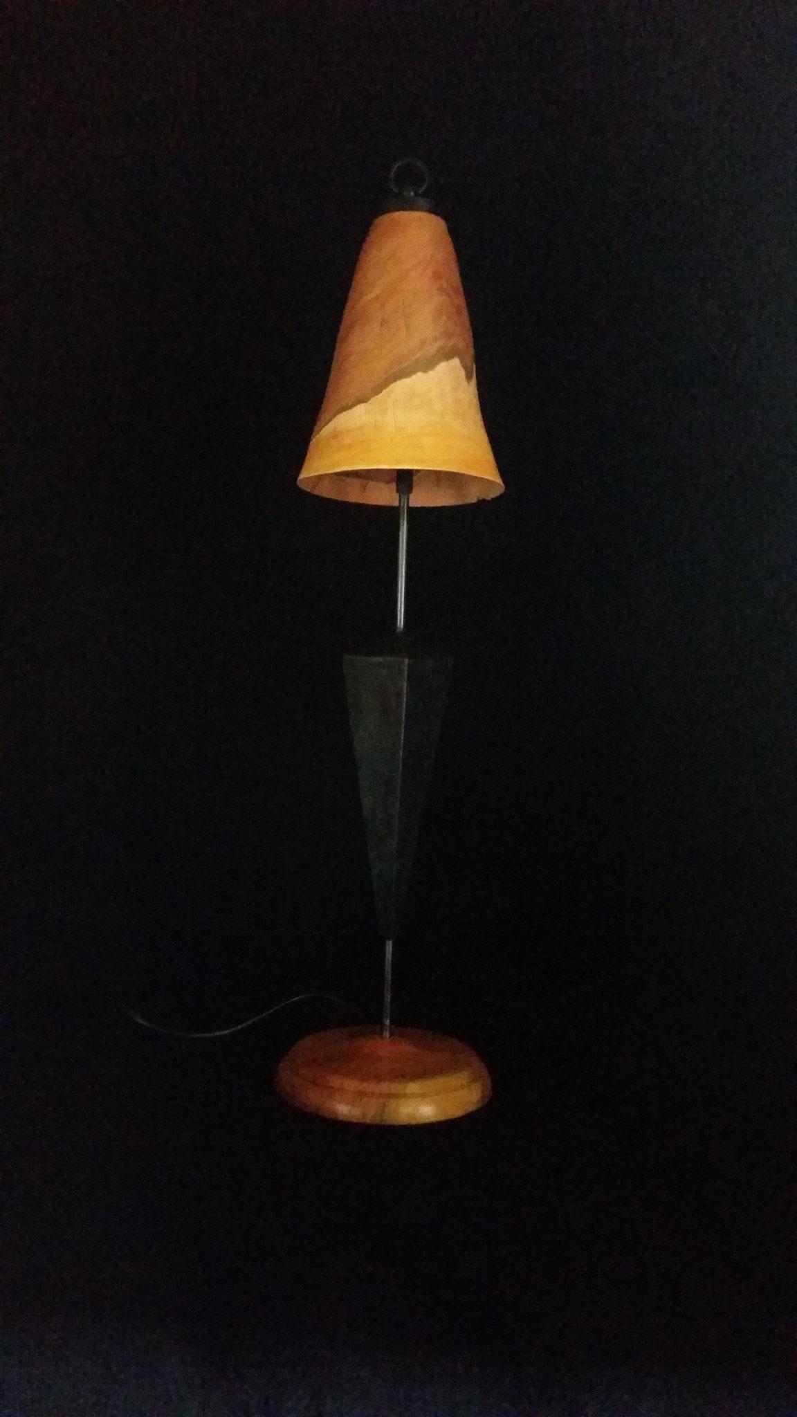 Tischlampe Pflaume & Stahl (H=ca 65cm)
