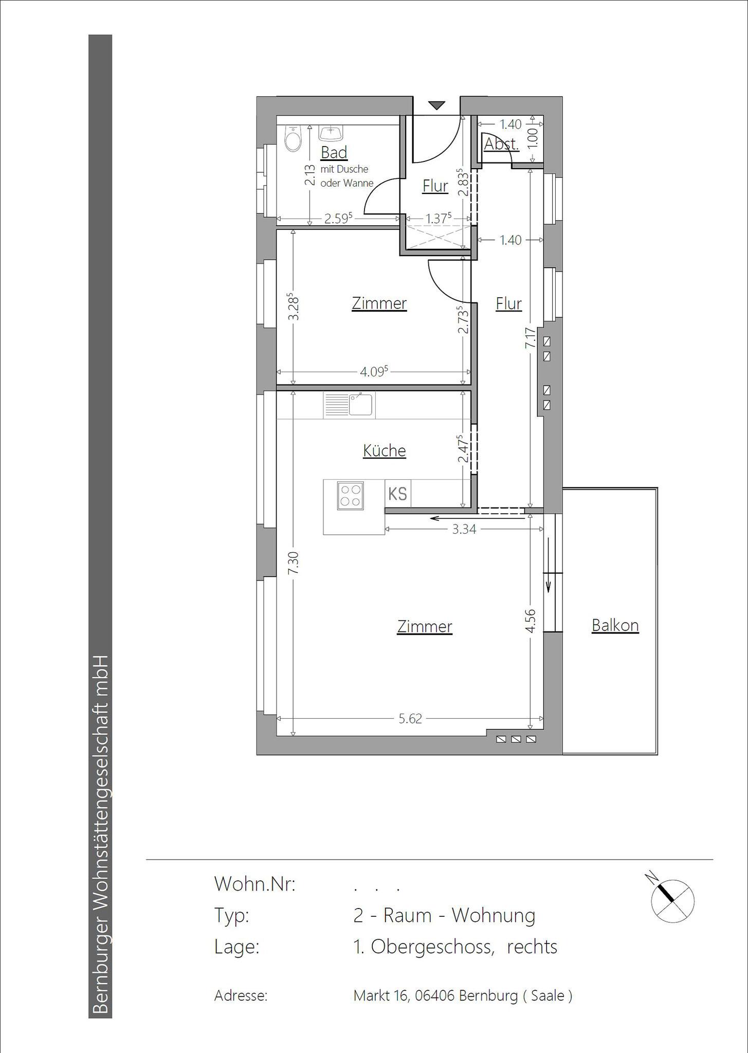 Raum Wohnung Bernburg