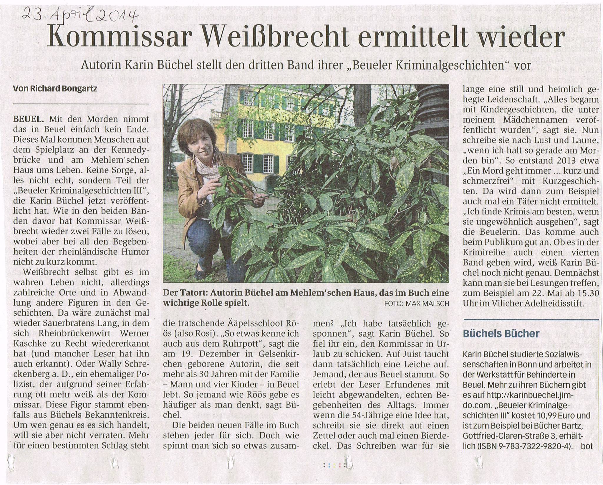 General-Anzeiger, 23. April 2014