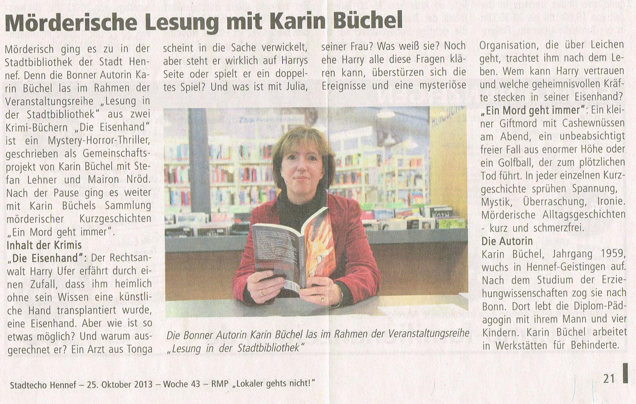 Stadtbibliothek Hennef, 16. Oktober 2013