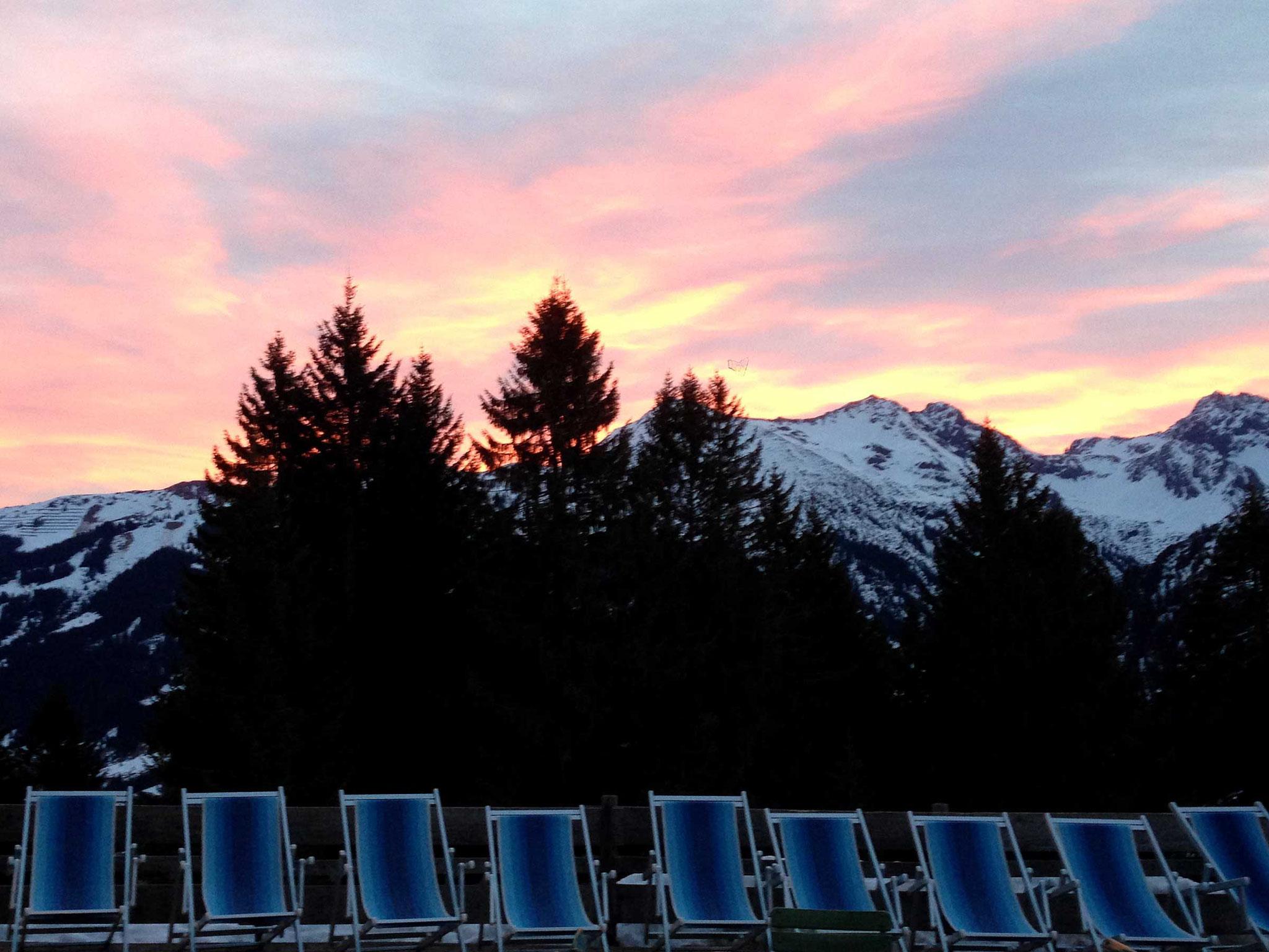 Berggasthof Bühlalpe, Kleinwalsertal – Winter Liegestühle