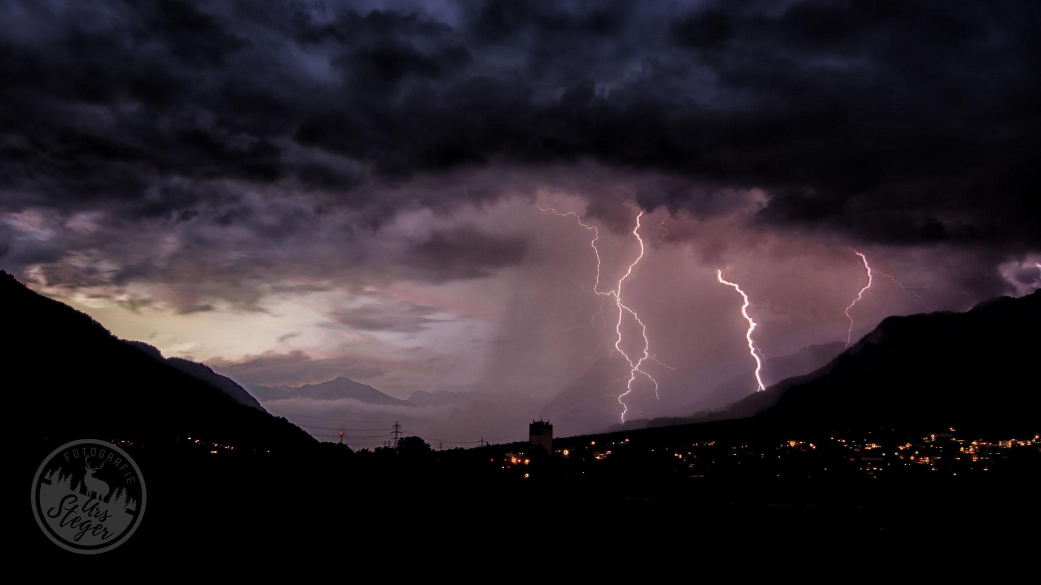 Gewitterwolken über Chur
