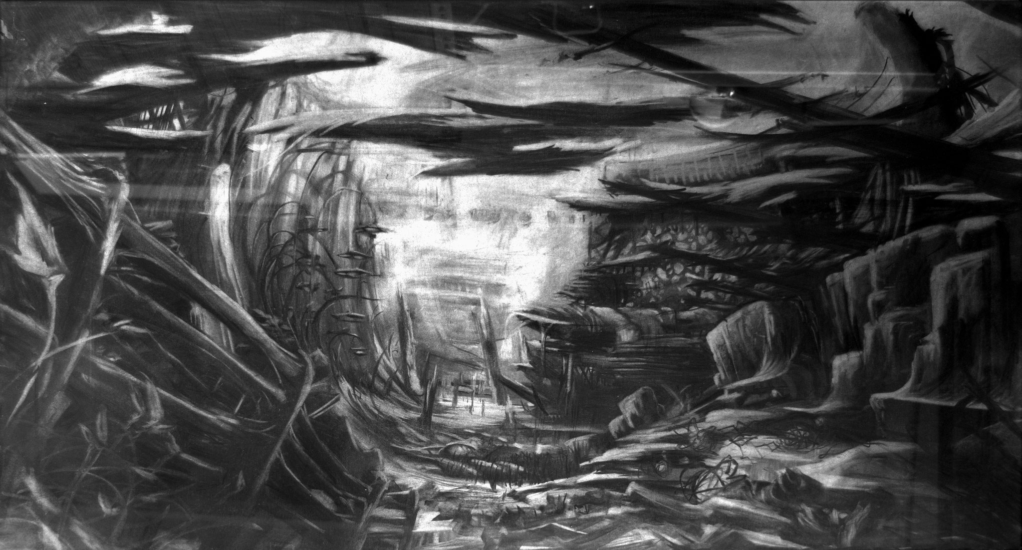 2016 - Safti - Charcoal on paper - 126 x 78 cm - SOLD