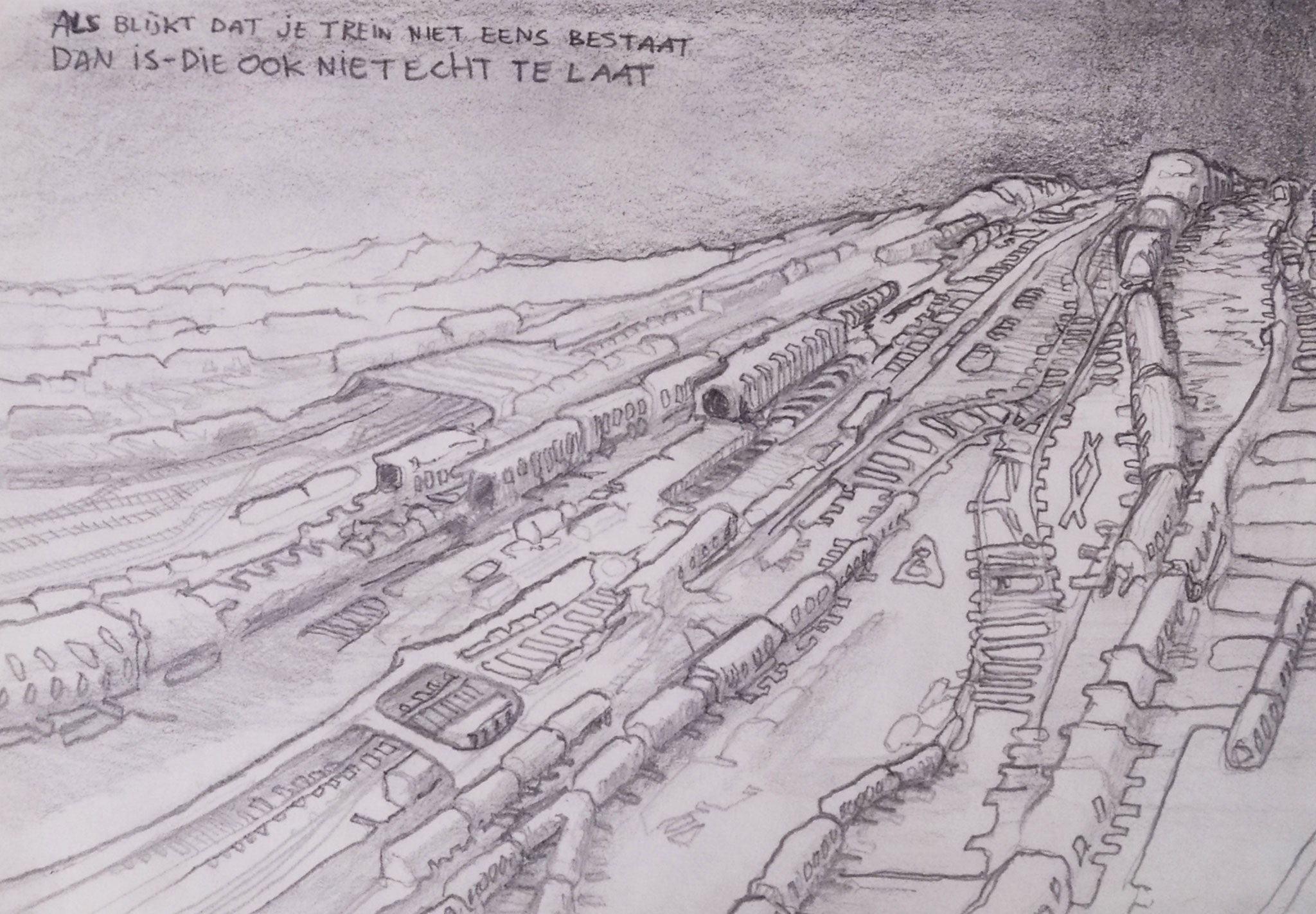 Train (26 x 12 cm; pencil on paper) AVAILABLE