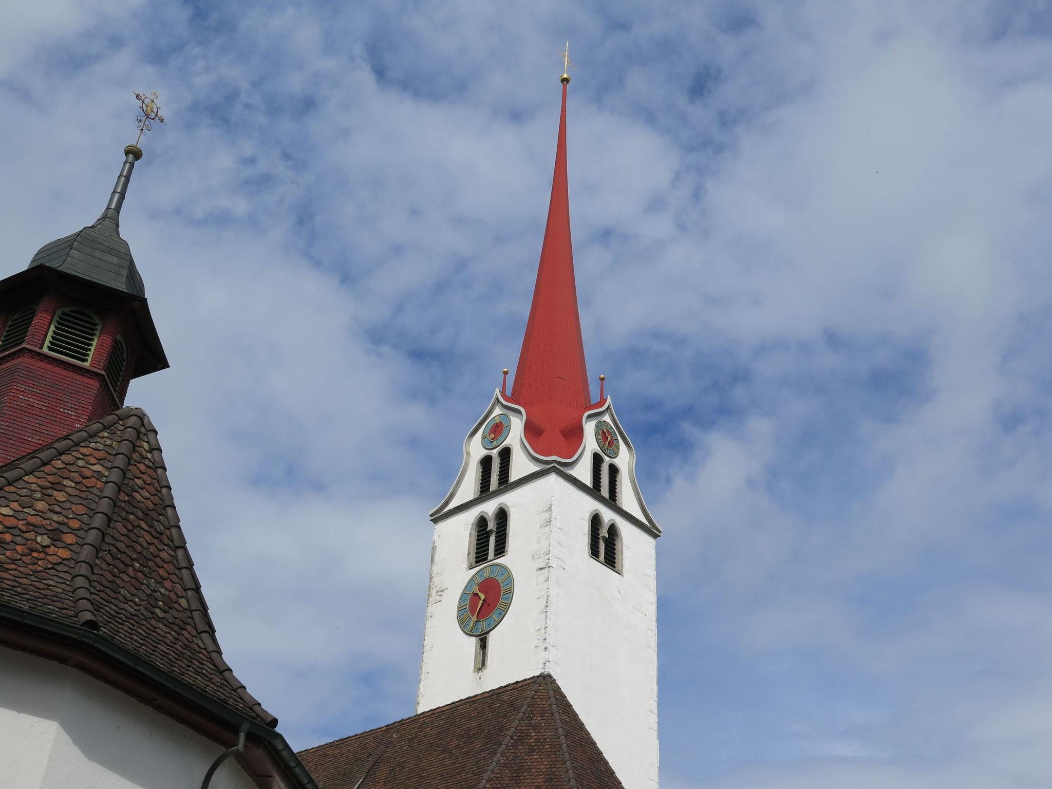 Die denkmalgeschützte Stadtkirche St. Nikolaus, ein Wahrzeichen von Bremgarten.