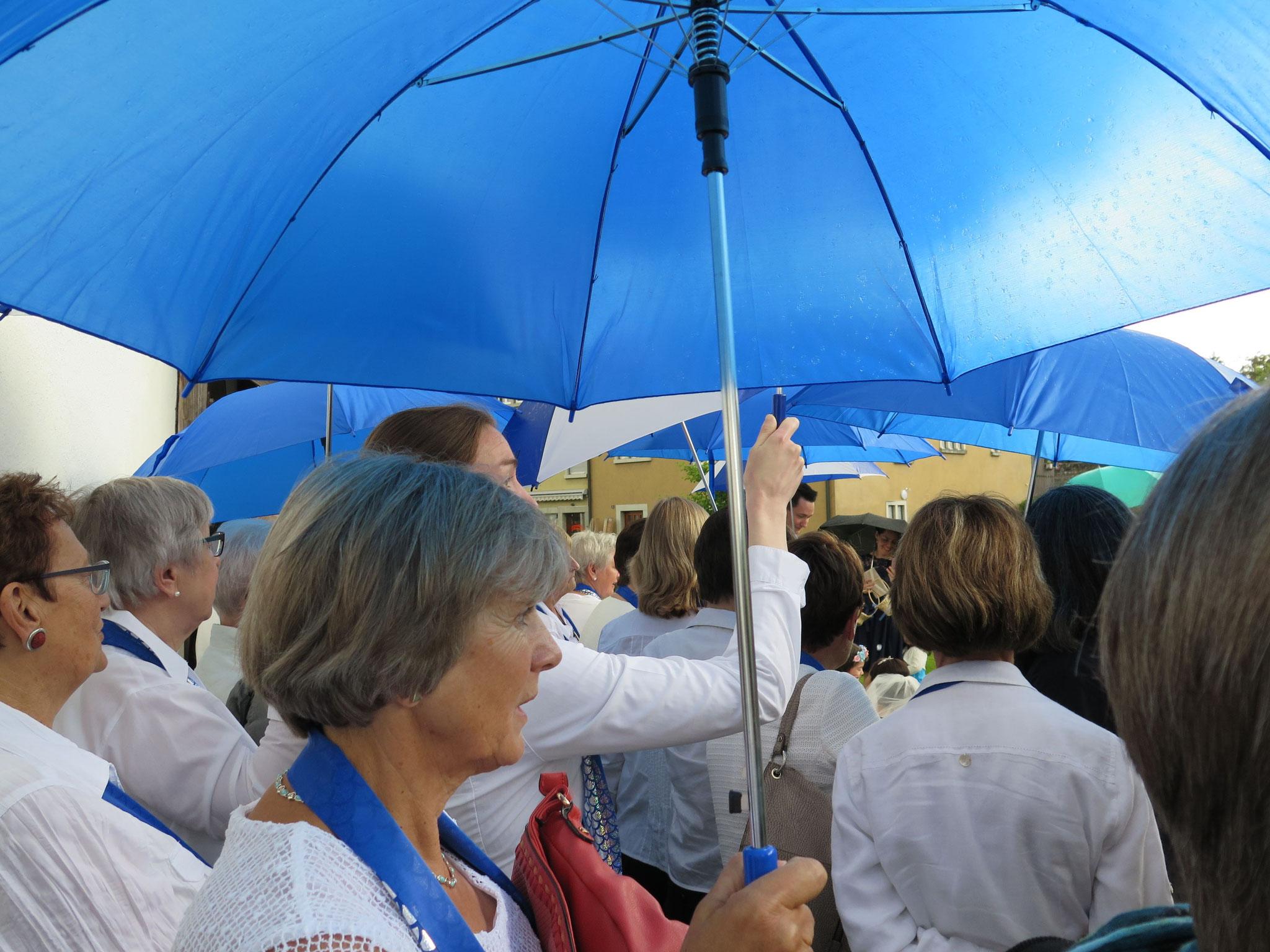 Typisch für diesen Sommer: Immer wieder mal Regen.
