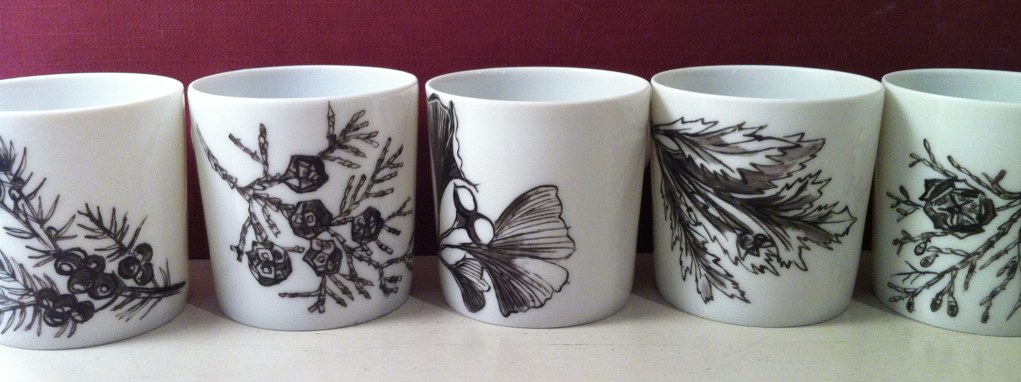 6 Tasses à café H 5 cm