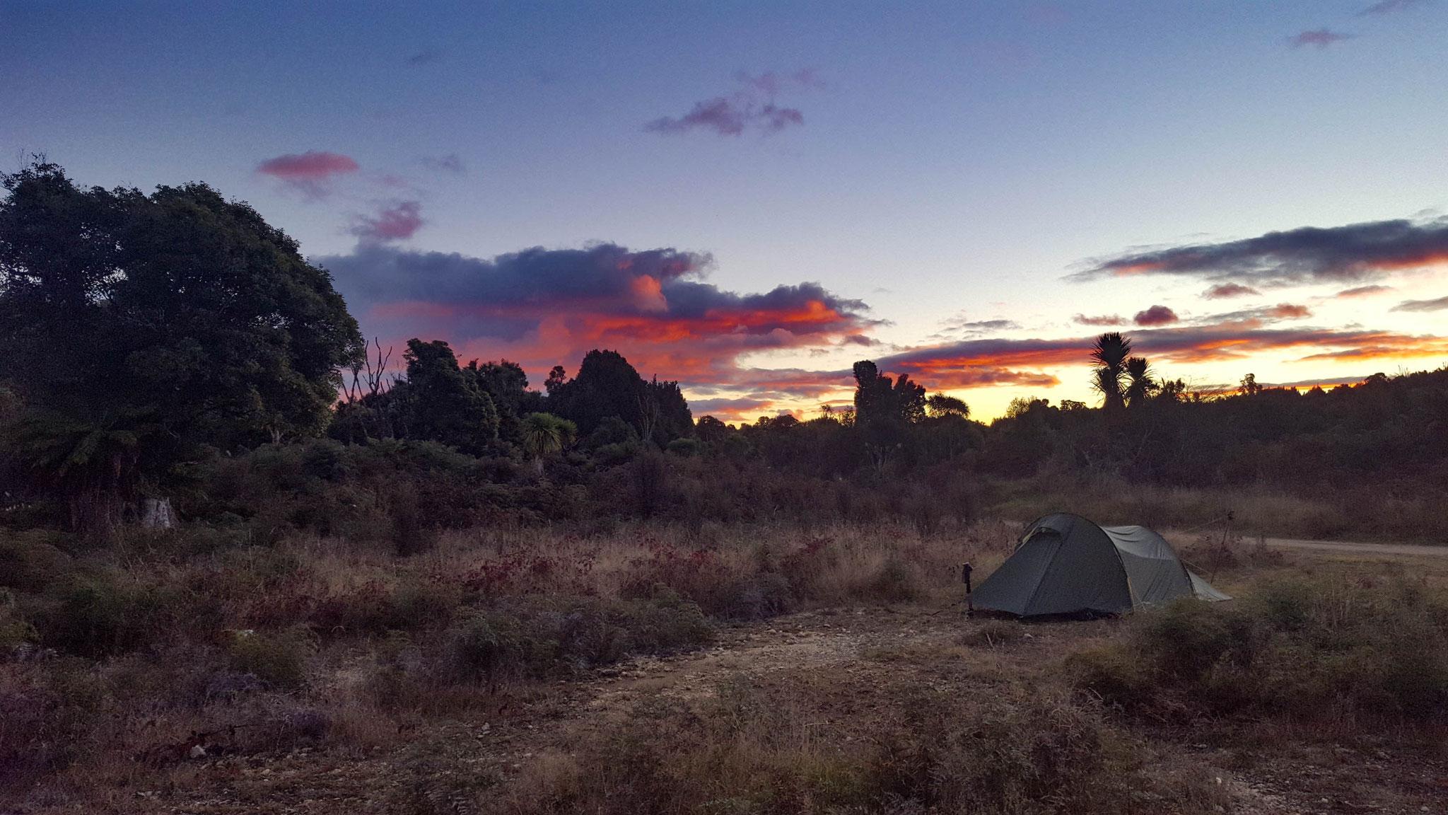 freie Campingplätze am Timbertrail