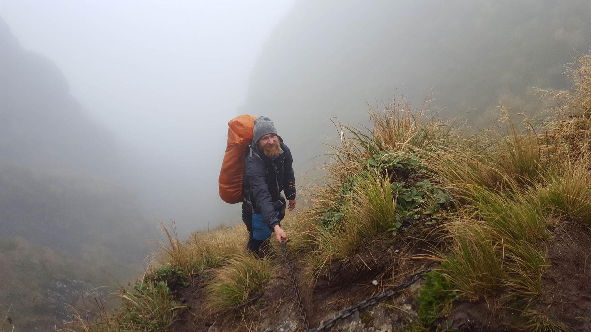 kurze Pause Tararua Crossing
