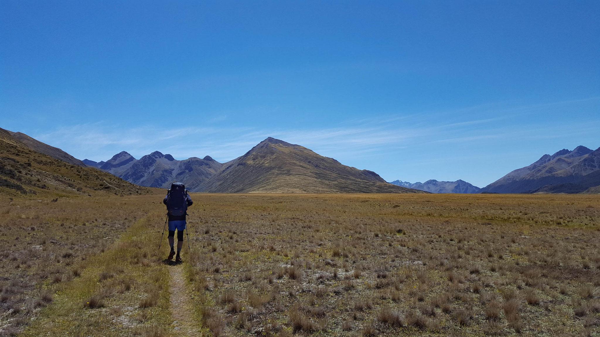 Mavora Walkway am Te Araroa auf dem Weg zur Greenstone Hut